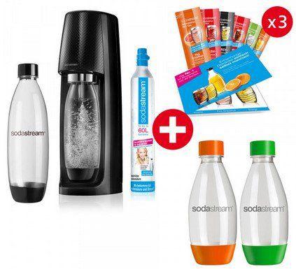 SodaStream Easy im Super Spar Pack (4x PET Flaschen & 3x 6 Sirupproben) für 59,90€ (statt 73€)