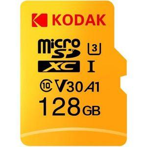 Kodak High Speed U3 A1 V30 Class10 microSD Karte mit 128GB für 18,65€