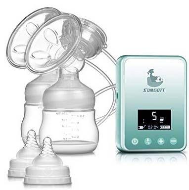 Elektrische Doppel Milchpumpe mit LCD Anzeige für 23,39€ (statt 39€)