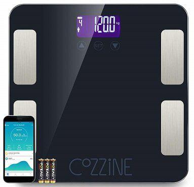 Cozzine Körperfettwaage mit App Anbindung für 18,59€ (statt 31€)