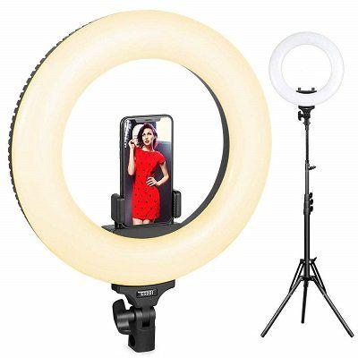 ESDDI 14 Ringlicht (dimmbar, mit 360 LEDs) für 69,99€ (statt 90€)