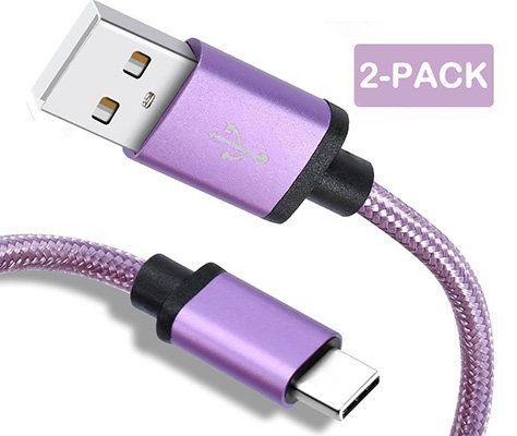 2er Pack: 1m USB C Lade  & Datenkabel für 4,99€   Prime
