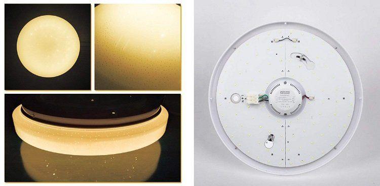 VINGO LED Deckenleuchten mit 30% Rabatt   z.B. 16W LED Leuchte mit Sternenhimmeleffekt für 12,34€ (statt 19€)