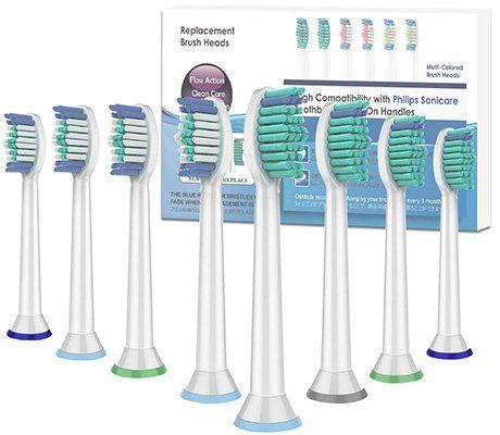 8er Pack Zahnbürstenaufsatz für Philips Sonicare für 12,99€ (statt 18€)   Prime