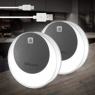 Doppelpack Okeanu LED Nachtlicht mit Bewegungsmelder für 14,99€ (statt 25€)