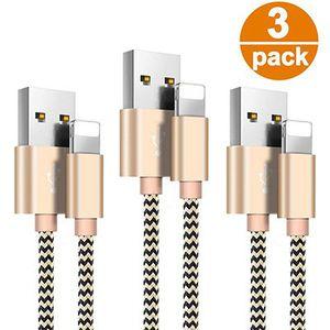 3er Pack: 1,5m Becaso Lightning Kabel für 7,99€