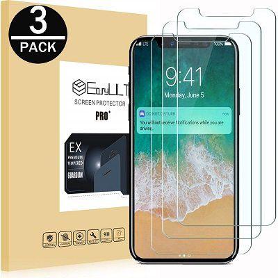 EasyULT iPhone X/XS Panzerglas (3 Stück) für 2,99€