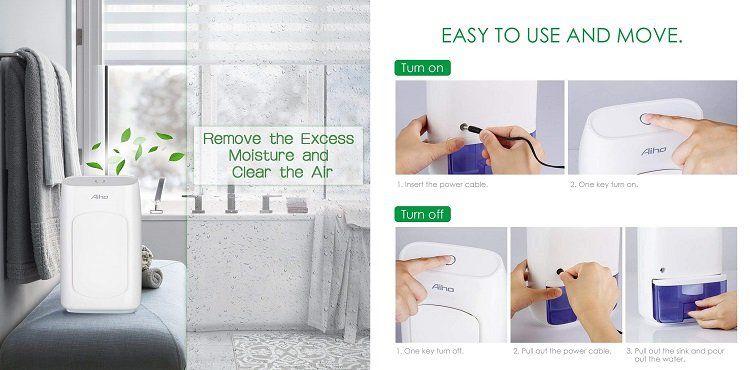 Aiho Luftentfeuchter für Räume bis zu 20 m² für 20,99€ (statt 33€)