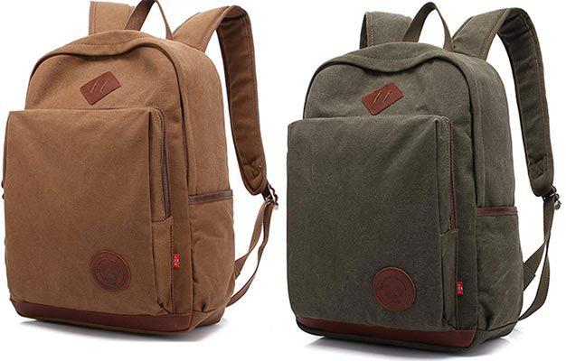 Rucksack (30L) aus Leinen mit Laptopfach für 14,99€ (statt 30€)