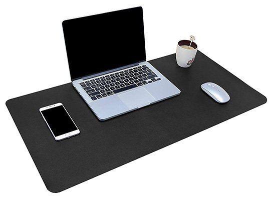 XXL Schreibtischunterlage in vielen Farben (80x40 / 90x43cm) aus PU Leder ab 8,49€   Prime