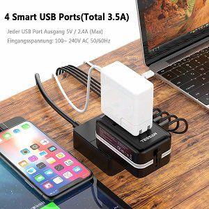 TESSAN BST 639F Universal Reiseadapter für USA/UK/Italien/EU/ Australien mit USB Ports für 9,89€ (statt 18€)