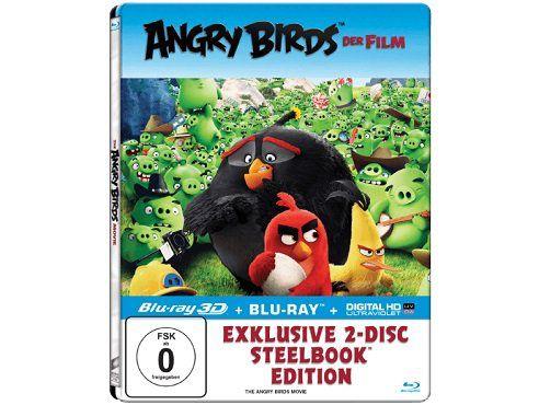 Angry Birds   Der Film (Exklusives Steelbook mit 3D Lentikularkarte   3D+2D Blu ray) für 5€ (statt 14€)