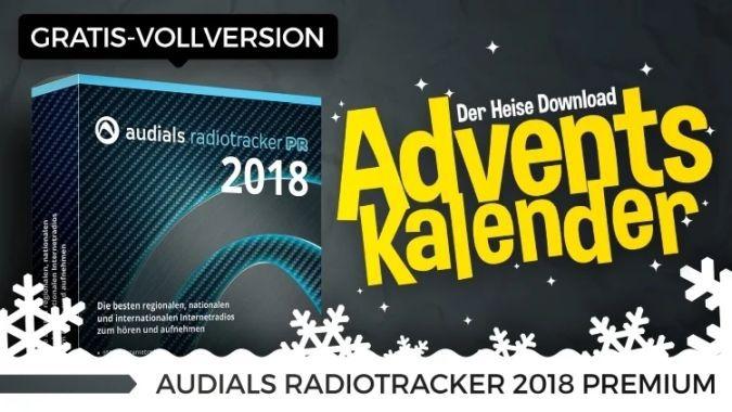 Audials Radiotracker 2018 Premium (Vollversion) gratis   nur heute im Heise Adventskalender