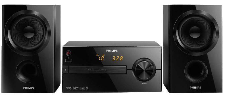PHILIPS BTM 1560/12   micro Musik Anlage Bluetooth, USB, CD, Radio für 69€ (statt 178€)