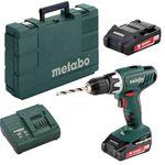 Metabo BS 18 Li 18V Akku-Bohrschrauber mit 2x 2 Ah Akkus, Ladegerät und Koffer für 89,95€ (statt 112€)