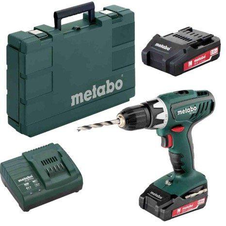 Metabo BS 18 Li 18V Akku Bohrschrauber mit 2x 2 Ah Akkus, Ladegerät und Koffer für 89,95€ (statt 112€)