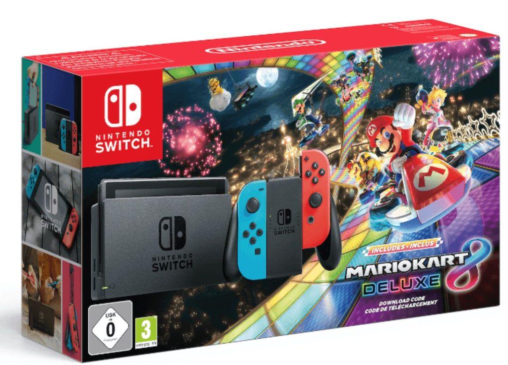 Nur im Markt: Nintendo Switch + Mario Kart 8 Deluxe für 297€ (statt 339€)   Saturncard