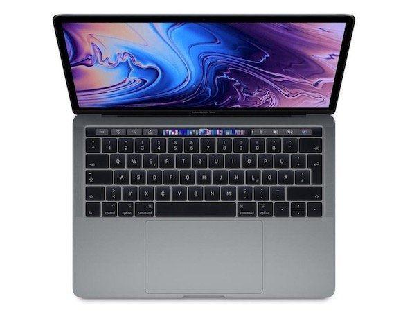 Apple MacBook Pro 13″ (Modell 2018 MR9R2D/A) mit 512GB für 1.855€ (statt 1.900€)