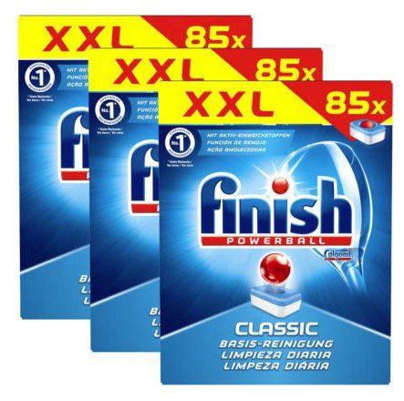 🔥 3x 255er Pack Finish Calgonit Classic Spültabs mit Powerball für 40,46€ (statt 75€)