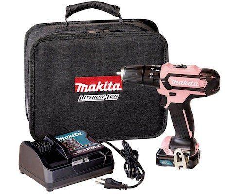 Makita HP331DSAP1 Akku Schlagbohrschrauber 12V als Pink Edition für 65,75€(statt 81€)