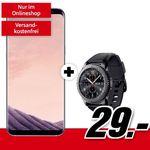 Samsung Galaxy S8+ inkl. Samsung Gear S3 frontier für 29€ + Telekom Allnet-Flat mit 1GB für 21,99€ mtl.