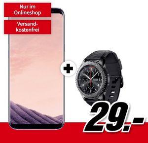 Samsung Galaxy S8+ inkl. Samsung Gear S3 frontier für 29€ + Telekom Allnet Flat mit 1GB für 21,99€ mtl.