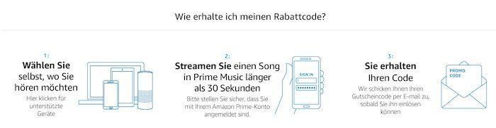 WTF? 30 Sekunden (erstmalig) Amazon Prime Music streamen und 5€ Gutschein geschenkt bekommen