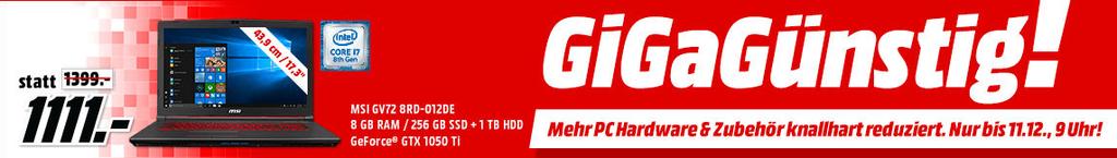 """MediaMarkt """"GiGaGünstig""""   reduzierte PC Hardware (z.B. LOGITECH M220 Silent Maus 14€)"""