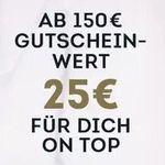 SportScheck Geschenkgutscheine mit bis zu 25€ Bonus