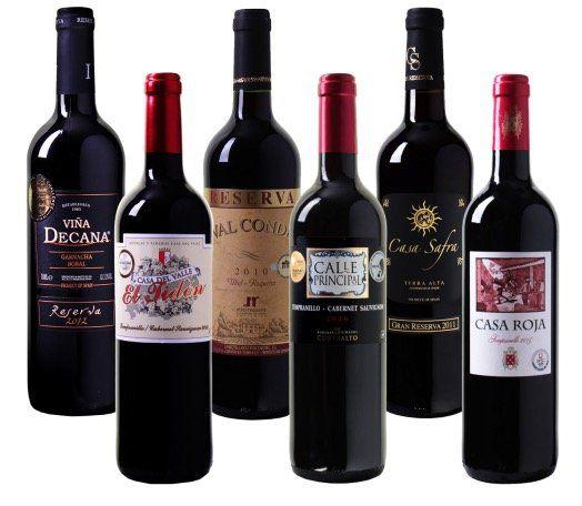6 Flaschen Rotwein Probierpaket mit Bestsellern für 35,94€   alle Weine mit Gold prämiert