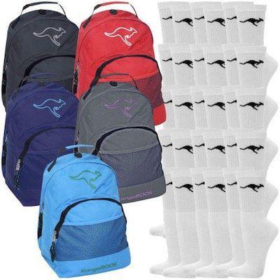 KangaROOS Rucksack + 15 Paar KangaROOS Sportsocken für 17,99€