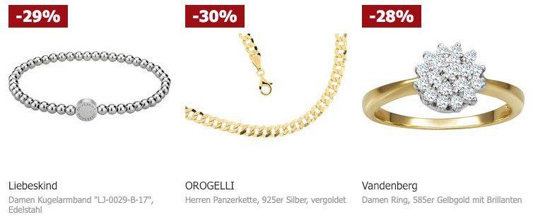 Karstadt: 20% auf ausgewählten Schmuck   z.B. Liebeskind Kugelarmband ab 22,39€