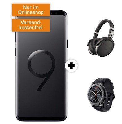 Knaller! Samsung Galaxy S9+ inkl. Sennheiser HD 4.50 + Galaxy Gear S3 frontier + Telekom Allnet Flat mit 8GB für 31,99€ mtl.