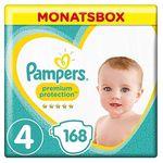 168er Pack Pampers Premium Protection Windeln (Gr. 4, 9-14kg) ab 28,24€ (statt 42€)
