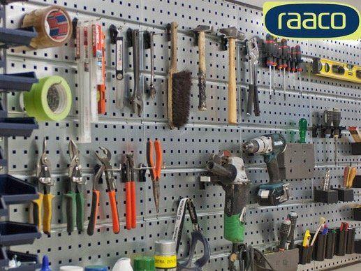 raaco Werkstatt Set (4 Stahllochplatten, 38 Haken) für 68,90€