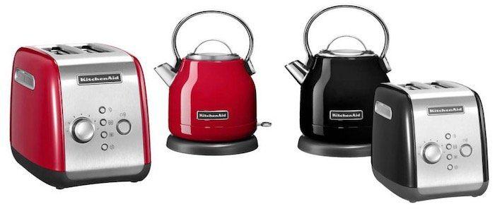 KitchenAid Frühstücks Set in Rot oder Schwarz (Toaster + Wasserkocher) für 99€ (statt 153€)