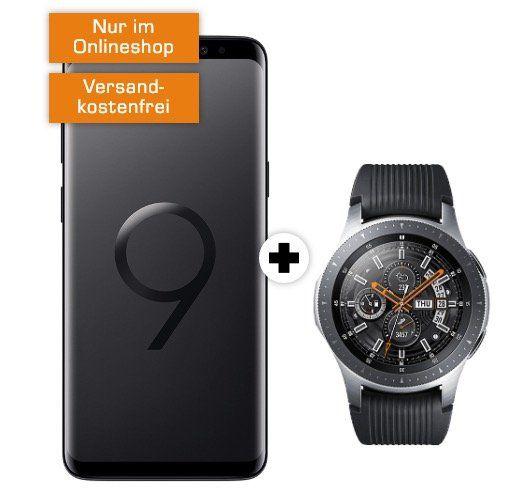 Samsung Galaxy S9 inkl. Samsung Galaxy Watch 46mm LTE für 29€ + Telekom Allnet Flat mit 2GB für 29,99€ mtl.