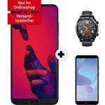 Huawei P20 Pro + Huawei Watch GT + Huawei Y6 für 99€ + Telekom Allnet-Flat mit 2GB für 26,99€ mtl.