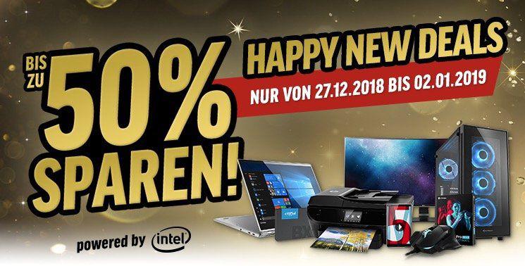 Happy New Deals bei Notebooksbilliger   bis zu 50% Rabatt auf ausgewählte Tablets, Notebooks, Smartphones etc.