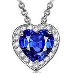 Kami Idea Damen Kette mit blauem Herz-Anhänger für 9,99€