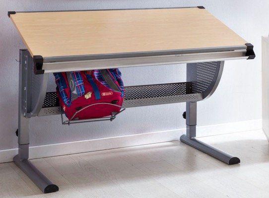 Wohnling Kinder Schreibtisch MAXI 120 x 60 cm (neigungs  und höhenverstellbar) für 69,99€(statt 92€)