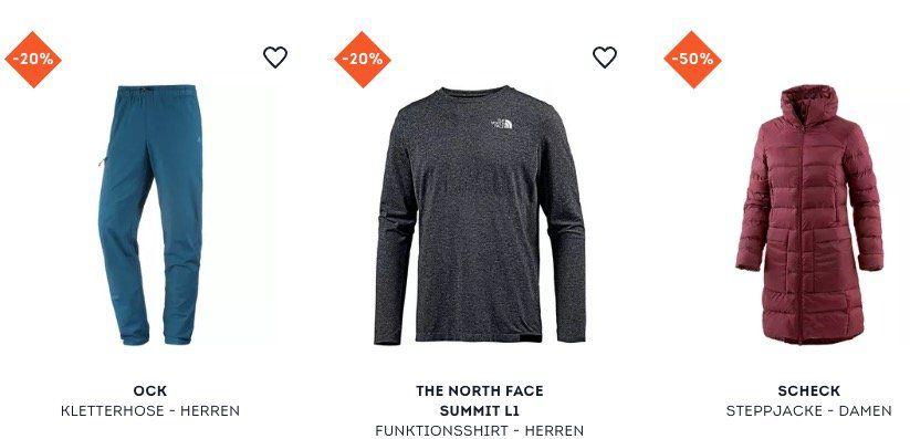 20% auf ausgewählte Outdoor Klamotten bei SportScheck   z.B. The North Face Summit L1 Funktionsshirt für 80,71€ (statt 93€)