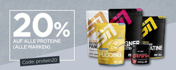20% auf Proteine bei Fitmart   z.B. 2,5kg ESN Whey nur 37,92€
