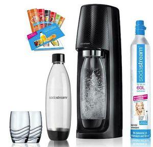 SodaStream Easy Promopack mit Zylinder, 2 Flaschen, 2 Gläser für 54,95€