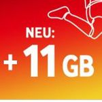 Vodafone CallYa Prepaid mit 2GB LTE für 9,99€ für 4 Wochen + einmalig 11GB gratis