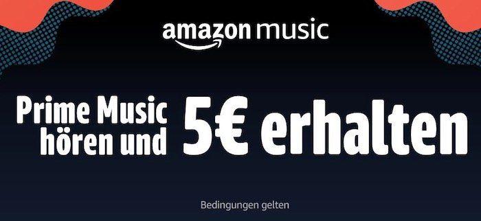 30 Sekunden (erstmalig) Amazon Prime Music streamen und 5€ Gutschein geschenkt bekommen