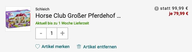 Schleich Der Große Pferdehof mit Wohnhaus und Stall (42416) für 79,99€ (statt 100€)