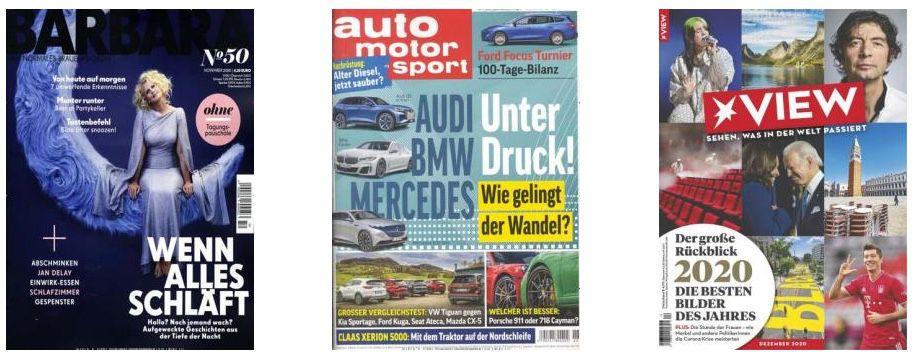 DPV Weihnachtskampagne mit tollen Zeitschriften Geschenkabos   z.B. 26x auto motor und sport für 99,90€ + 90€ Gutschein