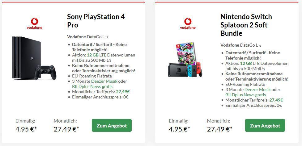 Vodafone Data Go L mit 12GB LTE (bis 500 Mbit/s) + Reisegutschein für 27,49€ mtl. (dank Cashback eff. 11,24€)