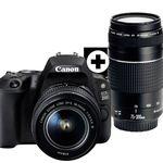 Canon EOS 200D – 24MP DSL Kamera + 18-55 mm + 75-300 mm Objektiv, WLan u. Touchscreen für 577€ (statt 650€)